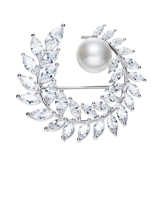 Amor eterno Aleación/Diamantes de imitación/La perla de faux con Rhinestone/La perla de faux Señoras' Broche