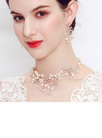 Elegant Rhinestones/Imitert Perle Damene ' Smykker Sett