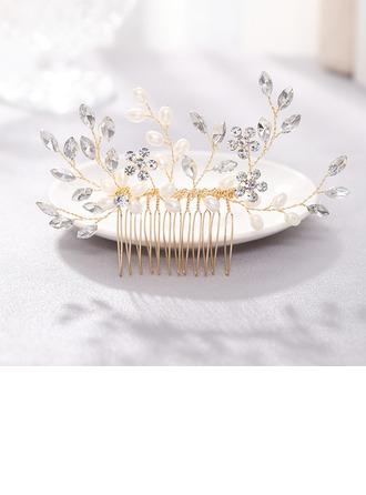 Filles Charme Strass/Alliage/Perles Des peignes et barrettes (Vendu dans une seule pièce)