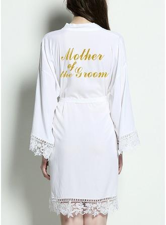 Bride Bridesmaid Cotton Satin & Lace Robes