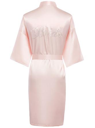 Personalized Charmeuse Bride Bridesmaid Mom Rhinestone Robes