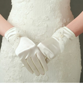 Satén Muñeca Largo Guantes de novia
