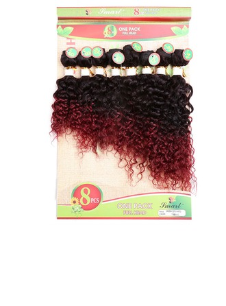 4A Non remy Curly Human Hair Human Hair Weave 8pcs