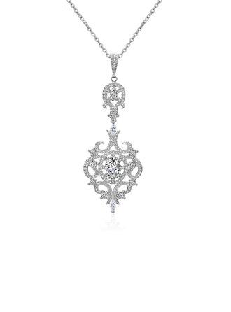 Elegant Alloy/Zircon Ladies' Necklaces