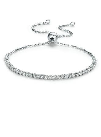 Platineret Delikat kæde Brude armbånd Bolo armbånd - Valentines Gaver Til Hende