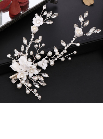 Ladies Charming Rhinestone/Alloy/Pearls Hairpins (Sold in single piece)