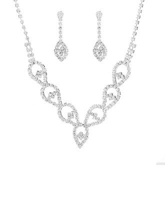 Senhoras Mais quente Strass com Almofada Conjuntos de jóias