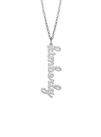 Personalizzata argento Nome Collana