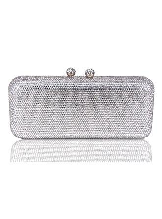 Elegante Cristal / Diamante Bolso Claqué