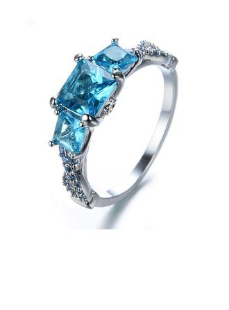 Unique Alloy/Zircon Ladies' Rings