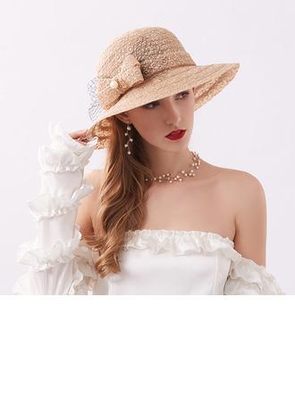женские Классический/Элегантные Кружева с бантом Пляжные / солнцезащитные шлемы/Кентукки дерби шляпы/Шапки для чаепития