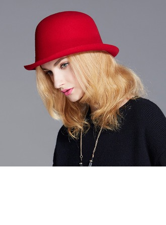 Signore Elegante/Squisito/stile vintage Lana Cappello a bombetta / Cloche