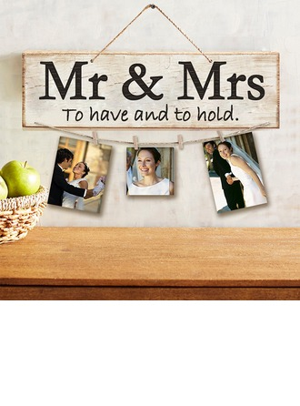 "Simples/Clássico/""Mr. & Mrs."" Nice/Bonito De madeira wedding Registe-"