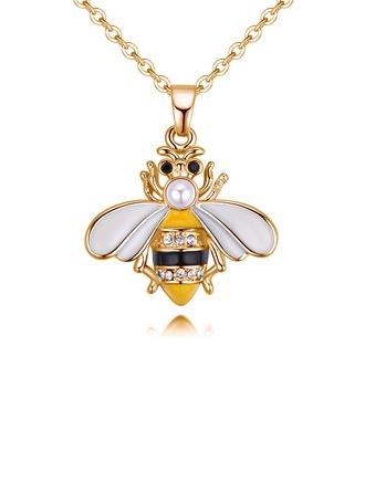 Sexy Legierung Strasssteine Faux-Perlen mit Nachahmungen von Perlen Strass Frauen Mode-Halskette