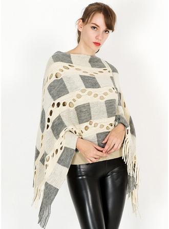 Tassel/Bohemia Oversized/fashion/simple Cashmere Poncho