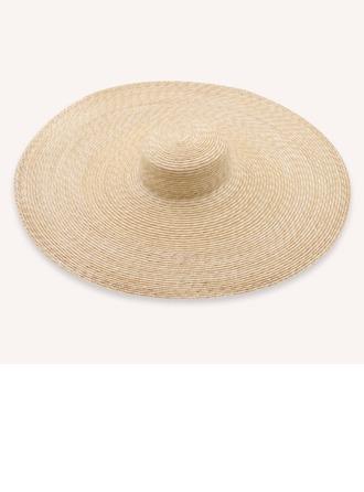 Senhoras Mais quente/Artístico Rattan de palha Chapéu de palha/Kentucky Derby Bonés