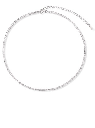 Sterling Silver Choker Necklace - Christmas Gifts