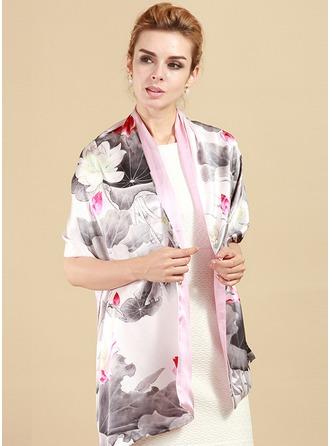 Blommig Lättvikt/attraktiv Mulberry silke Halsduk