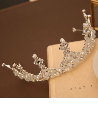 With Imitation Pearls/Rhinestones Tiaras (Sold in a single piece)