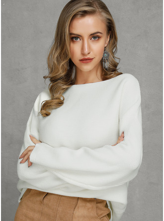 One Shoulder Casual Sexy Solid Sweaters