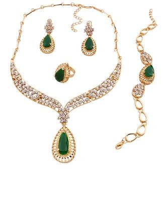Unique Alloy/Resin/Zircon Ladies' Jewelry Sets