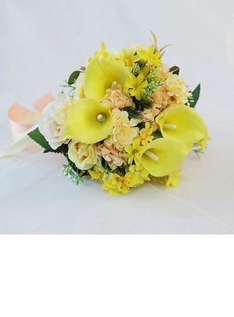 Pyöreä Tekokukat Morsiamen kukkakimppuihin (myydään yhtenä kappaleena) - Morsiamen kukkakimppuihin