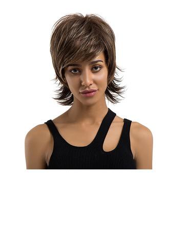 Straight Mänskligt hår Human Hair Parykar