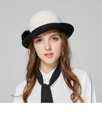 Dames Elegant Wol Emmer hoed