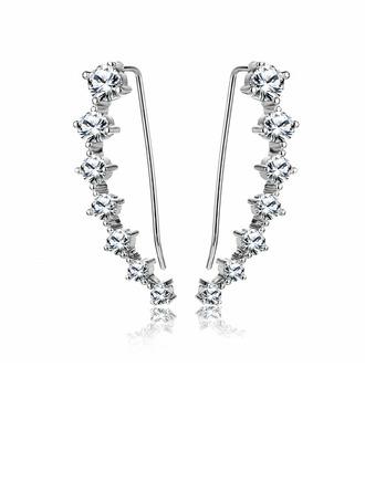 Elegant Alloy/Zircon Ladies' Earrings