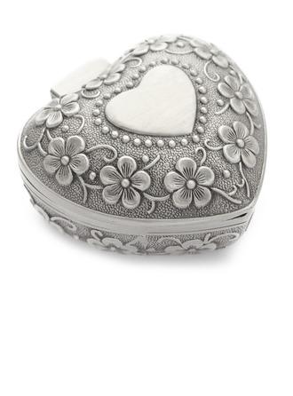 En forma de corazón Aleación/Bañado en plata Señoras' Joyería caja