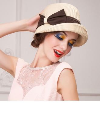 Senhoras Especial Verão Papiro com bowknot Chapéu de palha