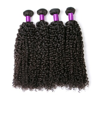 4A Kinky Curly Human Hair Human Hair Weave (Sold in a single piece)