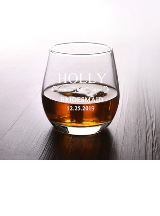 Bridesmaid Gifts - Personalized Classic Attractive Special Glass Glassware and Barware