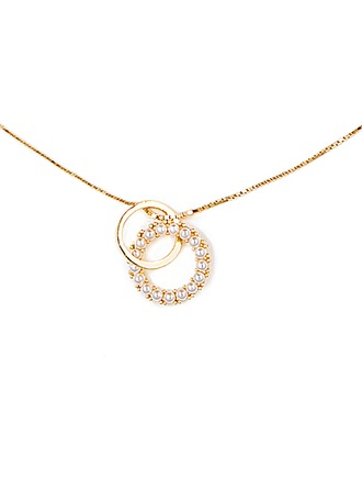 18k Gold Plated Silver Circle Double Discs & Circles - Christmas Gifts