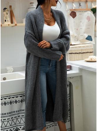 Nieformalny Długi Jednolity Masywna dzianina Swetry