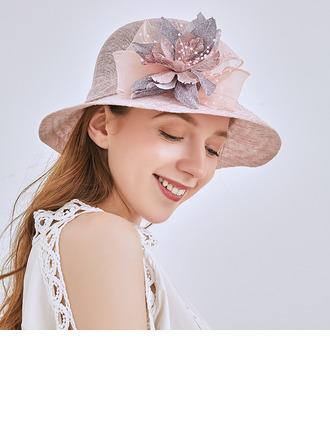 Ladies' Classic/Elegant Linen Beach/Sun Hats/Kentucky Derby Hats/Tea Party Hats