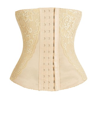 Naiset Classic Polyesteri Buttock Hissi Korkea Vyötärö Vyötärökalut jossa Pitsi Shapewear