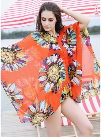 Floral Oversized/attractive/fashion Beach Poncho