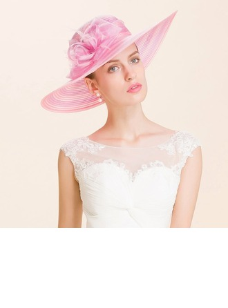 Ladies' Eye-catching Organza Bowler/Cloche Hats/Kentucky Derby Hats/Tea Party Hats