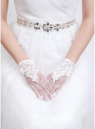 Tyl/Lace Wrist Længde Brude Handsker