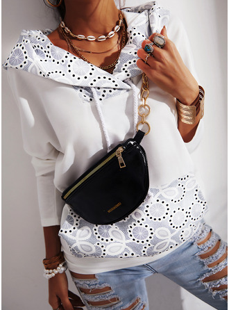Lace Long Sleeves Hoodie