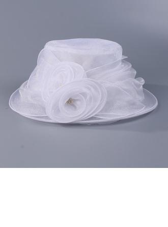 Sonar Naisten Upea Organzanauha jossa Kukka Levyke hattu/Kentucky Derbyn hatut/Tea Party Hatut