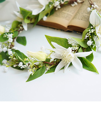Tyttömäinen Pyöreä Silkki kukka/Tekokukat päähine kukka (myydään yhtenä kappaleena) - päähine kukka