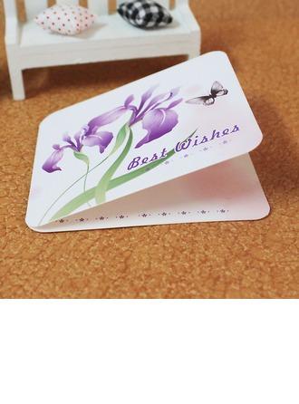 Blommig Stil/Fjäril stil Side Vik Hälsnings Kort (Sats om 10)