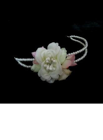 Gorgeous Imitation Pearls/Artificial Silk Headbands