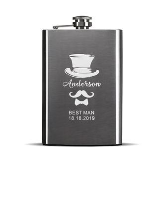Groomsmen Gaver - Personaliseret Moderne Rustfrit Stål Flask