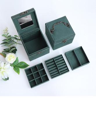 Cadeaux De Mariée - Couleur Unie velours Boîte à bijoux