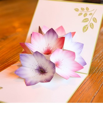 Artistic Style Side Fold Birthday Cards/Response Cards/Thank You Cards
