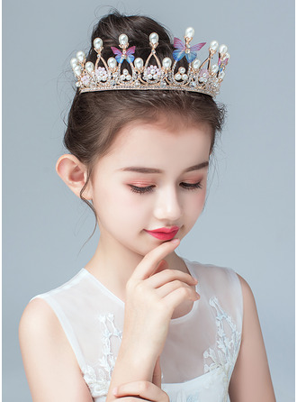 Slitina/Faux Pearl/Krystal Korunky