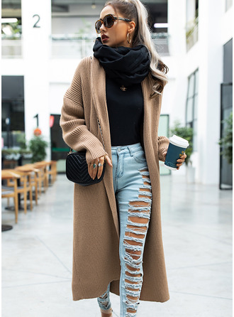 Casual Long Solid Sweaters
